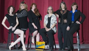 "The cast of ""Love, Loss and What I Wore,"" from left to right: Meg McNamee, Wendy Bender, Deveny Rosebrock, Diane DuRussel, Becky Freligh and Joyce Collins-Cameron."