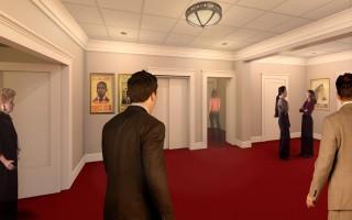 Mezzanine Lobby rendering