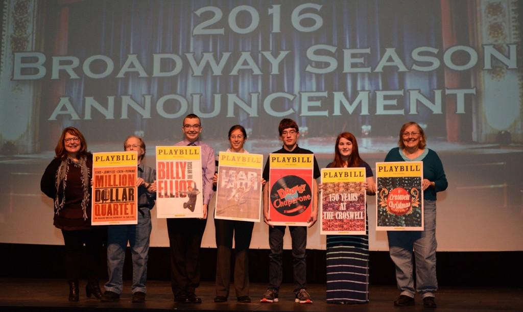 2016 Broadway Season announcement